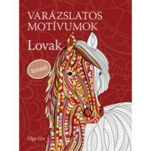 Varázslatos motívumok - Színező - Lovak